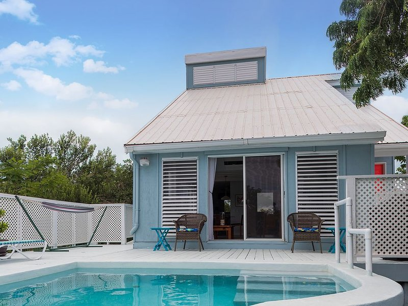 2BR/2BA Charming Oceanview Cottage w/ Private Plunge Pool - sleeps 6, vacation rental in Turtle Cove