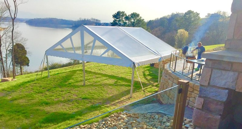 tents are optional for weddings, corporate events, large family gatherings, etc.
