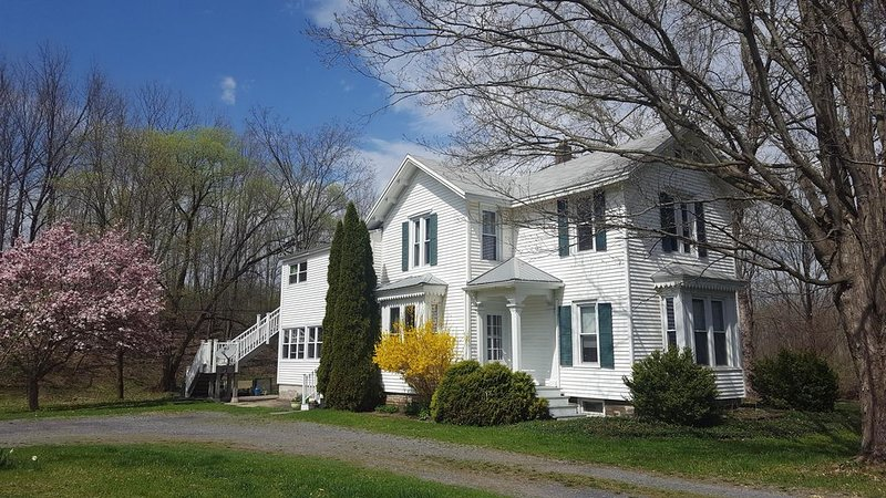 Apt. near Cayuga Lake and 215' Waterfall. Clean and disinfected., holiday rental in Trumansburg