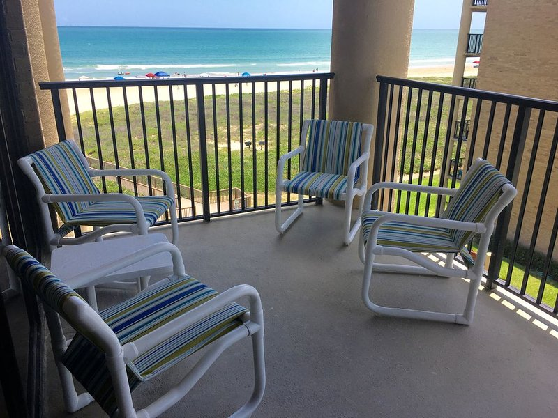 Spacious Main Balcony...the perfect place to enjoy your favorite beverage.