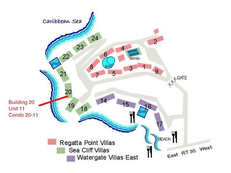 Map Showing The Condo
