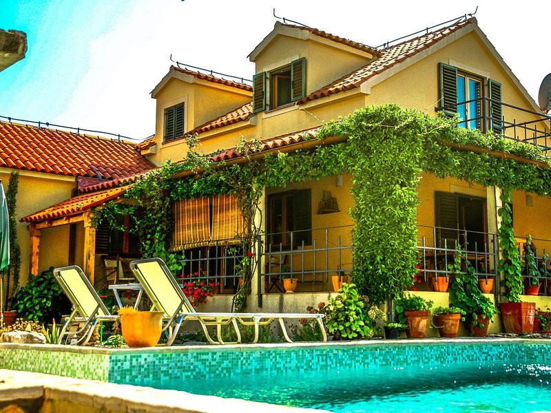 Tuscany-Styled Villa with Superb View of Adriatic and Private Swimming Pool, vacation rental in Skrip
