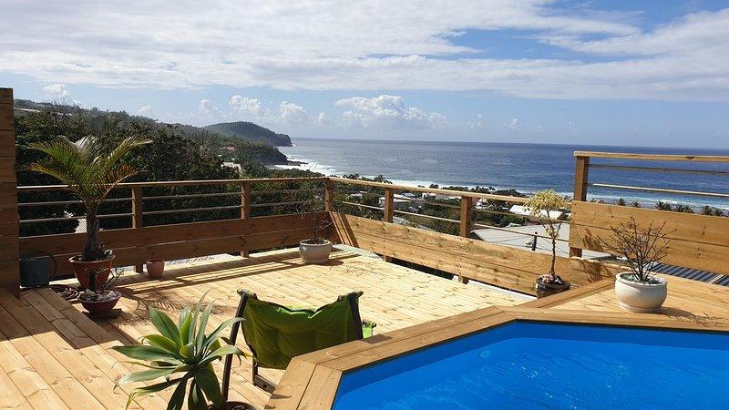Villa avec belle vue mer et piscine, holiday rental in Grand Bois