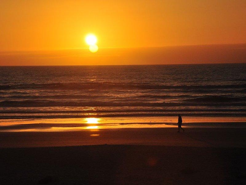 Kort trevlig promenad från stugan för att titta på soluppgången.