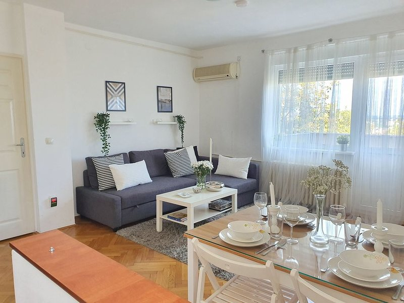 Dositejeva Urban Downtown-2 bedroom-terrace-central, holiday rental in Central Serbia