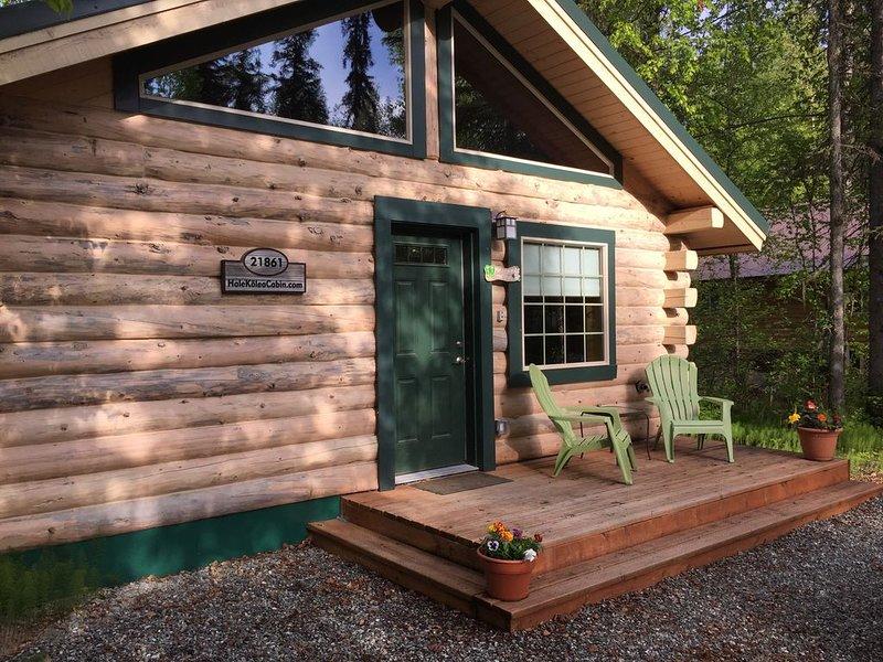 Modern Log Cabin Vacation Rental with En Suite Sauna in Talkeetna, Alaska, vacation rental in Talkeetna