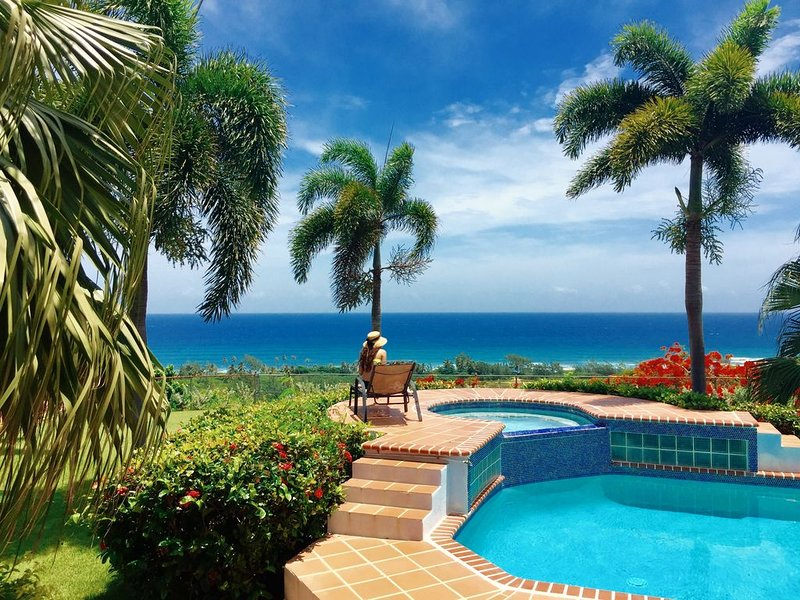Amazing Panoramic Ocean Front Gated 3BD House with Gazebo & Wifi (1 Acre), holiday rental in San Antonio