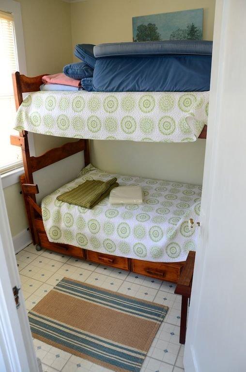 first floor bedroom with half bath