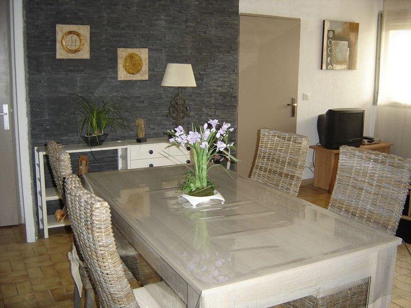 appartement  de 63 m2  avec parking à la Motte du Couchant,à 100 m de la mer, location de vacances à La Grande Motte