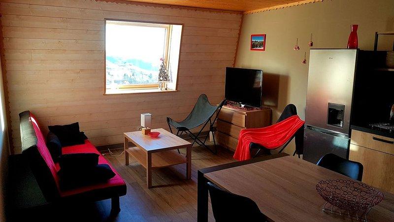 LE LIORAN T3  3 *, pied des pistes, Esprit Chalet, Naturellement Cantal, holiday rental in Lascelle