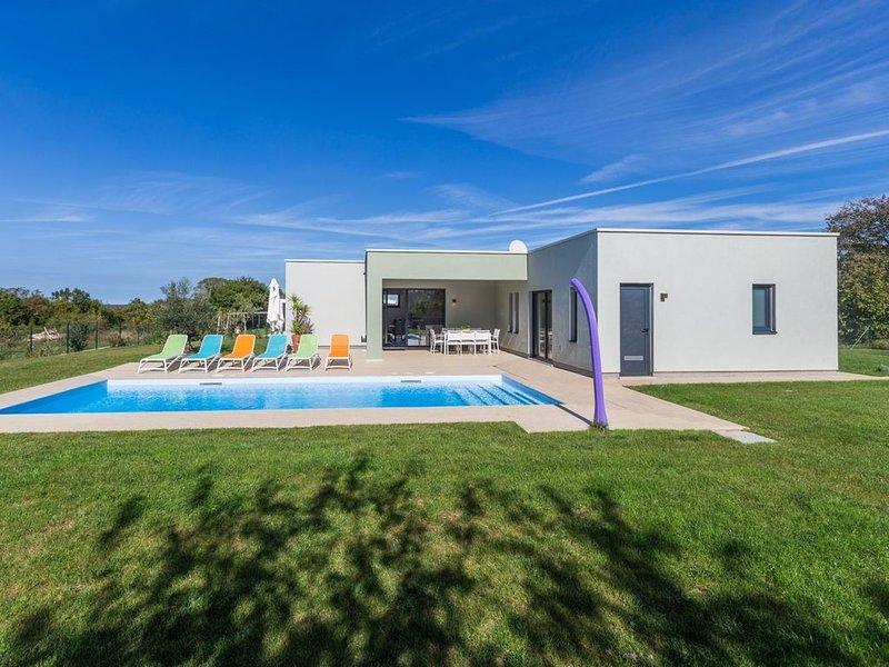 Villa in stile moderno con piscina privata in campagna, holiday rental in Prkacini