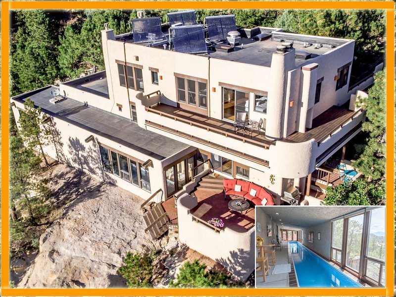 Hidden Gem: Heated Pool, Gorgeous Mountain Views, 2.4 Acres inside City, A/C, EV, vacation rental in Colorado Springs