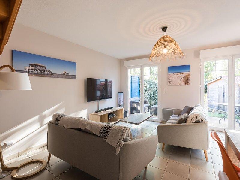 Appartement duplex 75 m2 tout confort, aluguéis de temporada em Le Teich