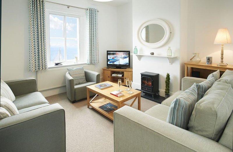Ground floor: Sitting room with sea views