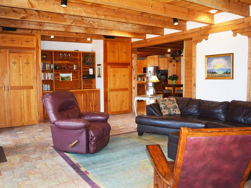 Custom built, owned & lived in by well-known Taos carpenter / artist.