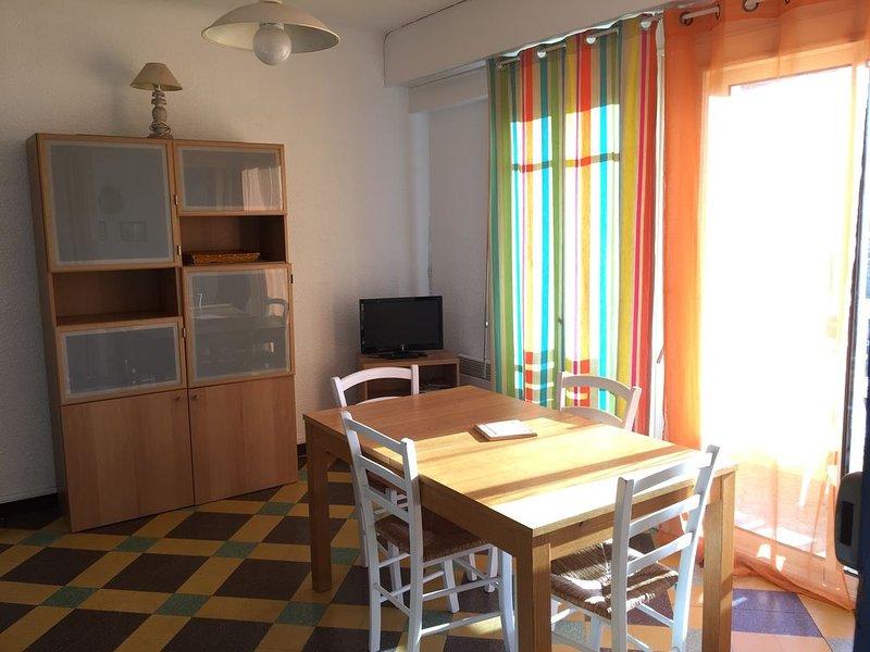 Bel appartement avec vue mer en plein centre ville, holiday rental in Valras-Plage