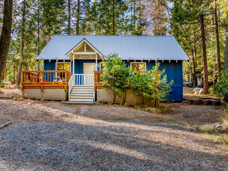 As seen on House Hunters! Renovated cabin w/bocce & cornhole - walk to town/lake, holiday rental in Big Creek