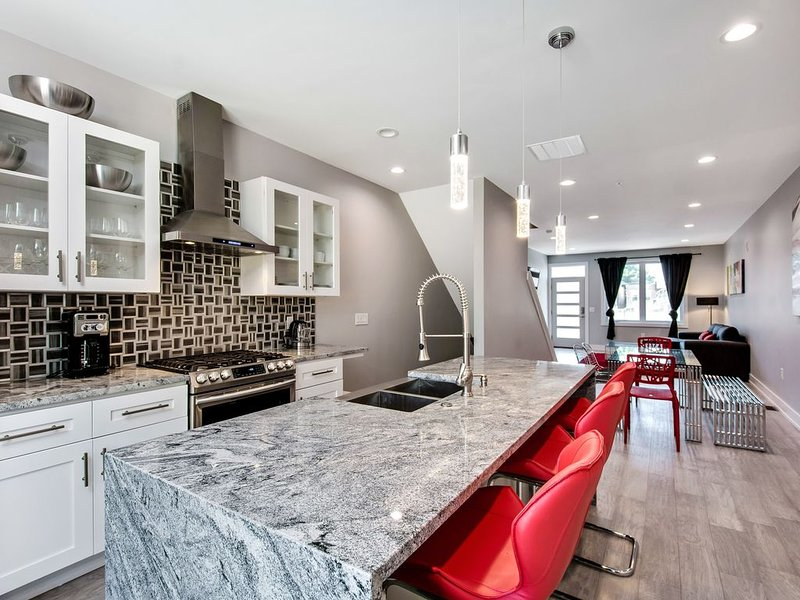 Stunning 5BD house with roof deck and patio, aluguéis de temporada em Williamstown