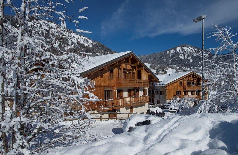 Appartement Cosy Près des Pistes | Local à Ski + Accès Piscine Intérieure + Bain, holiday rental in Flumet