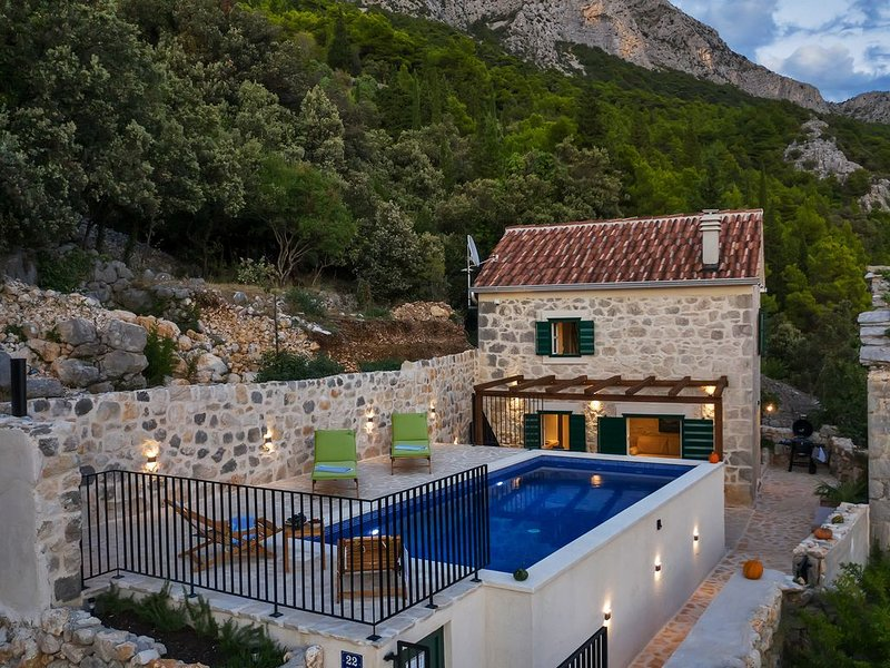 Villa  with private pool with amazing view on island Hvar, location de vacances à Zaostrog