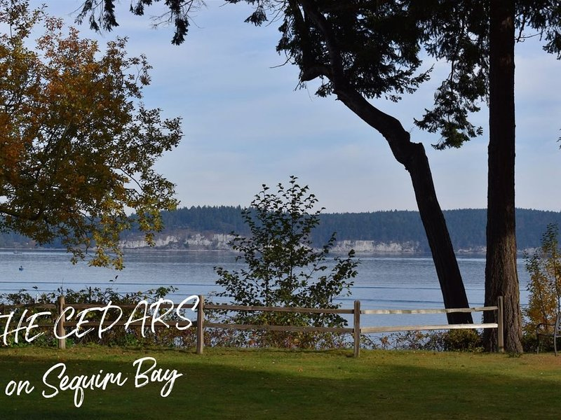 Spectacular Waterfront Living at The Cedars on Sequim Bay  Family Friendly Water, vacation rental in Sequim