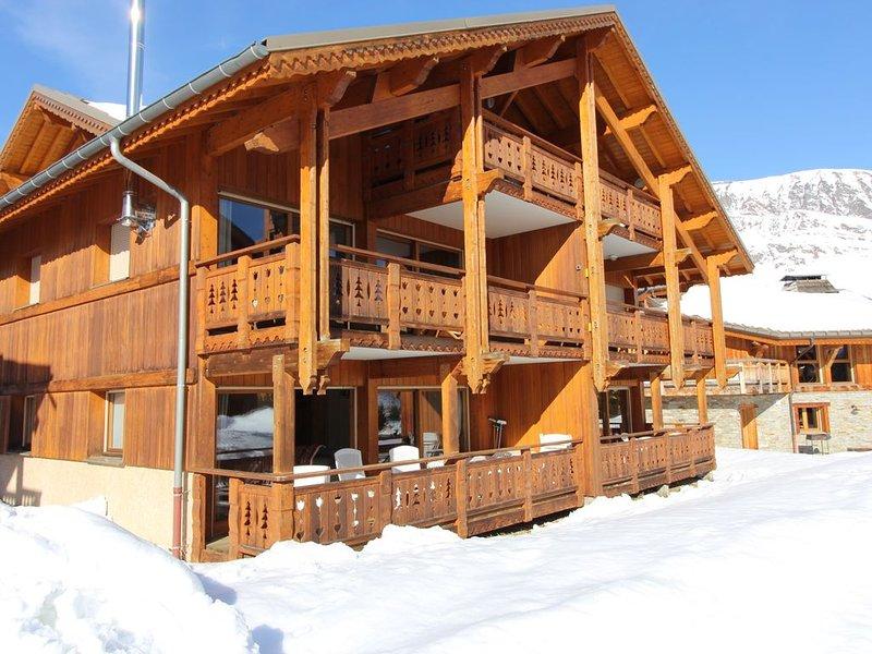 Appartement 60 m2 recent dans petit chalet a 150 m des pistes , des commerces, holiday rental in L'Alpe-d'Huez