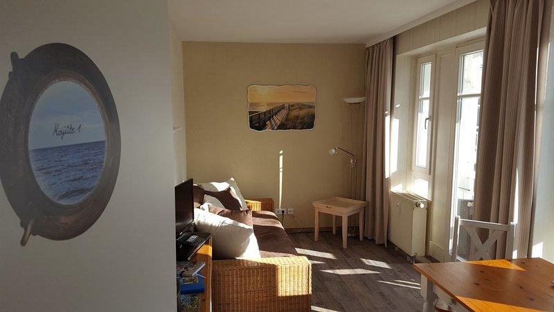 'Kajüte 1'  kleine  Ferienwohnung in Ostseenähe in Sellin, WLAN gratis, holiday rental in Sellin