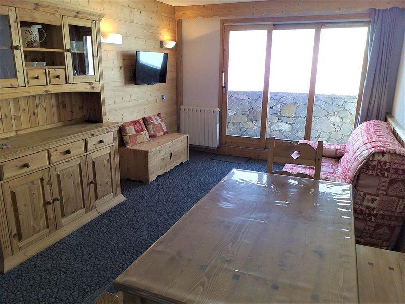 Méribel-Mottaret au coeur des 3 Vallées appartement 2 pièces 36m² skis au pied, vacation rental in Meribel Mottaret
