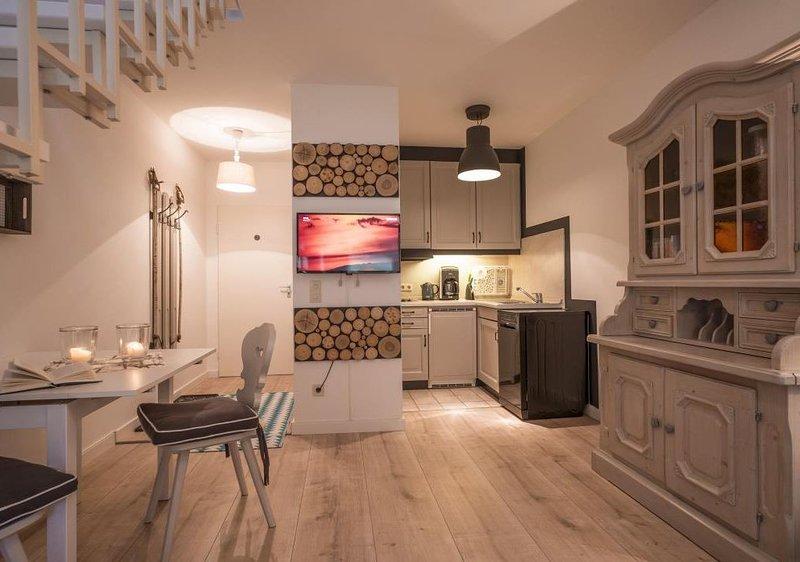 2-Zimmerwohnung im Landhausstill,Spülmaschine,gemütlicher Balkon,Wlan,Flachbilds, alquiler de vacaciones en Oberaudorf
