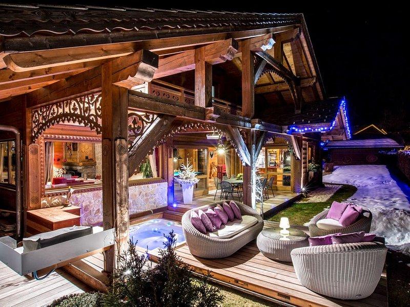 Chalet d'exception authentique&luxueux, jacuzzi-Luxury chalet  - 10 %  DE REMISE, holiday rental in Cluses
