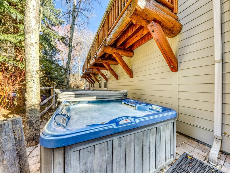 Quiet townhome w/private hot tub and walking distance to River Run! Dogs ok!, holiday rental in Ketchum