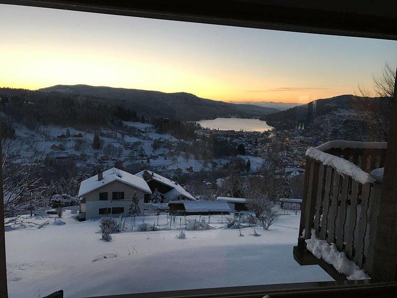 Chalet Vue panoramique sur le Lac, Calme et Lumineux, alquiler de vacaciones en Gerardmer