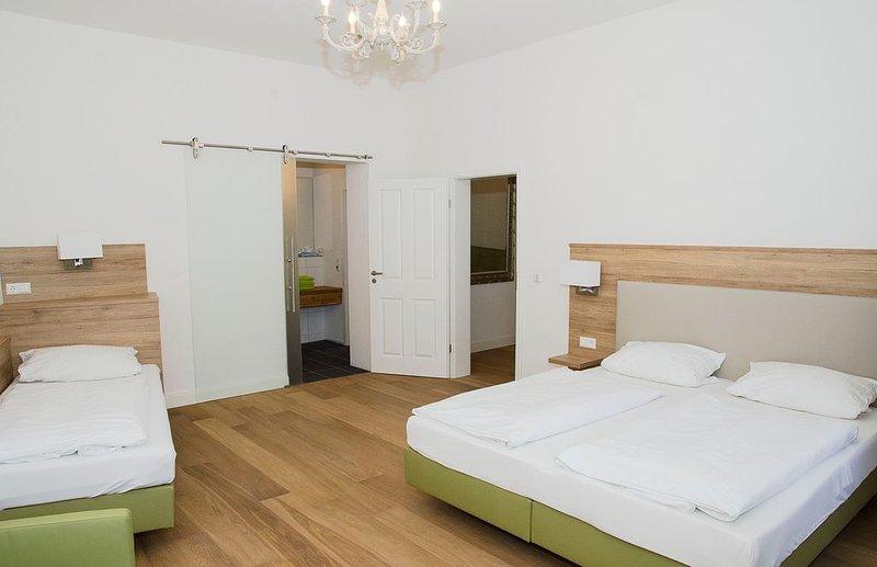 Exklusive Gästewohnung am Neckar mit Küche, Wohn- und Esszimmer, vacation rental in Schwetzingen