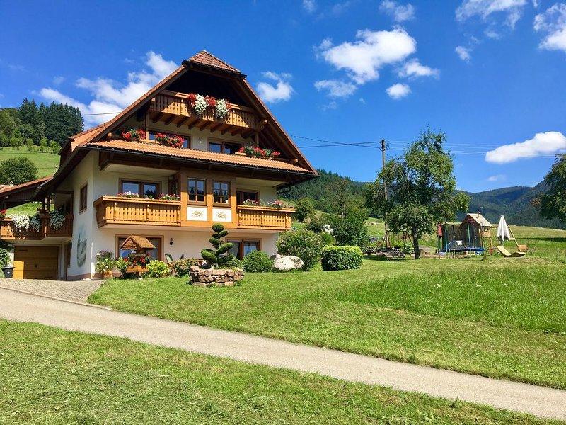 Ferienwohnung Panoramablick, 45qm, 1 Schlafzimmer, 1 Wohn-/Schlafraum, max. 3 Pe, holiday rental in Sankt Margen