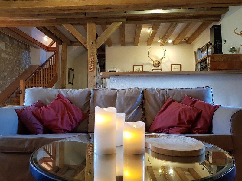 Cottage 'Le Pressoir' dans le parc du château, holiday rental in Allonnes