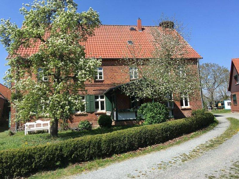 Haus im Biosphärenreservat Elbtalaue mit Badestelle im Dorf, aluguéis de temporada em Havelberg
