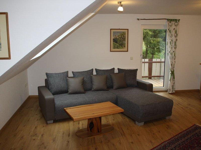 mitten in der Natur gelegene Ferienwohnung Albpartments Koch, holiday rental in Sigmaringen