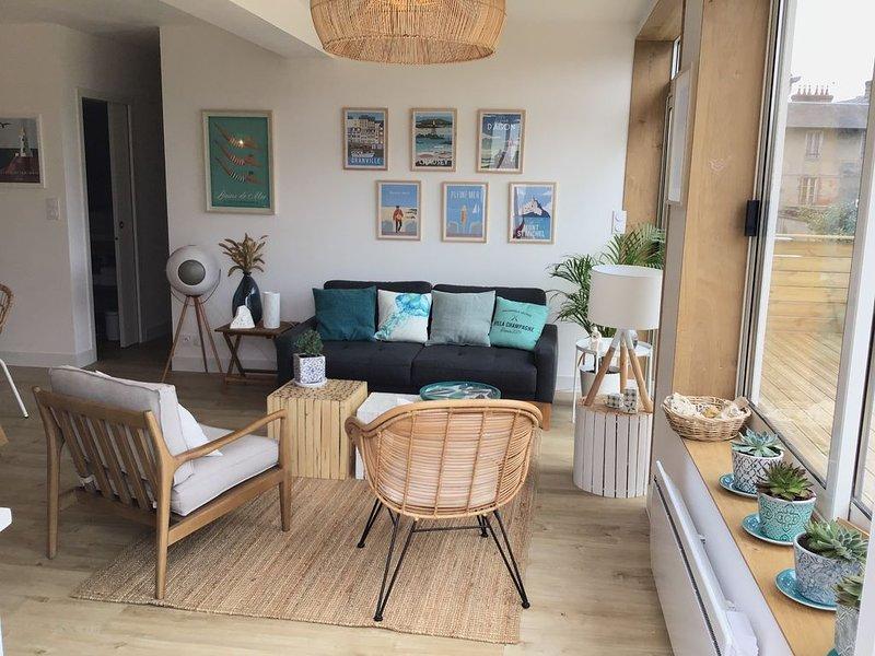 Villa proche mer à Jullouville les Pins, location de vacances à Champeaux