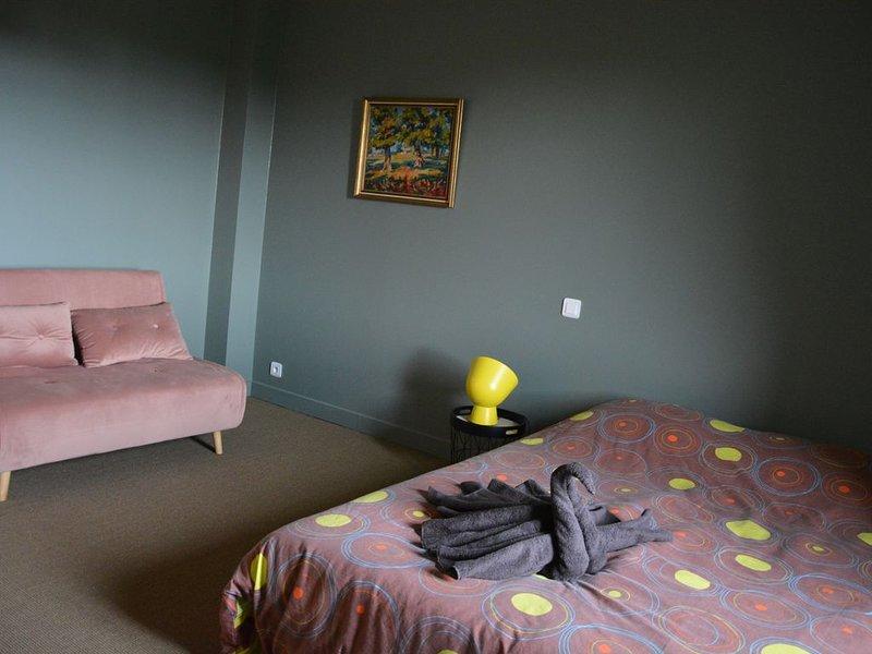 L'émeraude - Chambre double au coeur d'un élevage d'animaux sauvages, location de vacances à Le Dorat