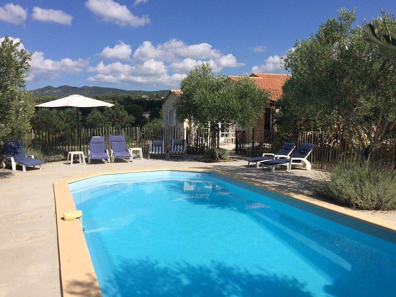 Grande maison familiale avec piscine, aluguéis de temporada em Aups