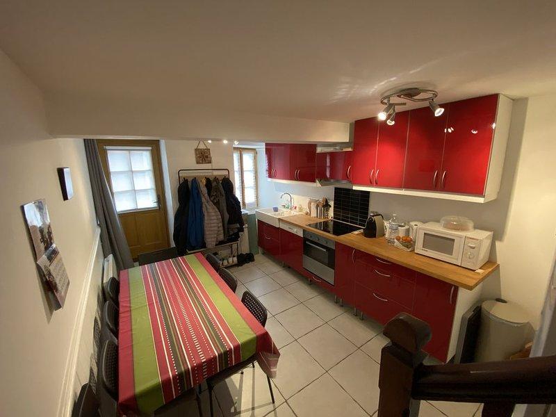 Maison de 4 pièces jusqu'à 8 personnes, à deux pas du télécabine et des thermes, vacation rental in Ascou