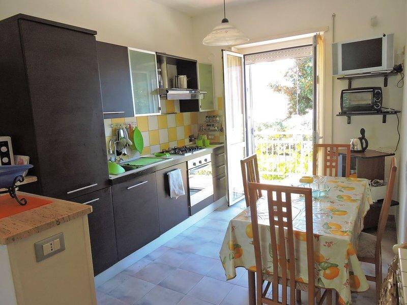 lussuoso  appartamento con giardino 50 metri dal mare, vacation rental in Frasso