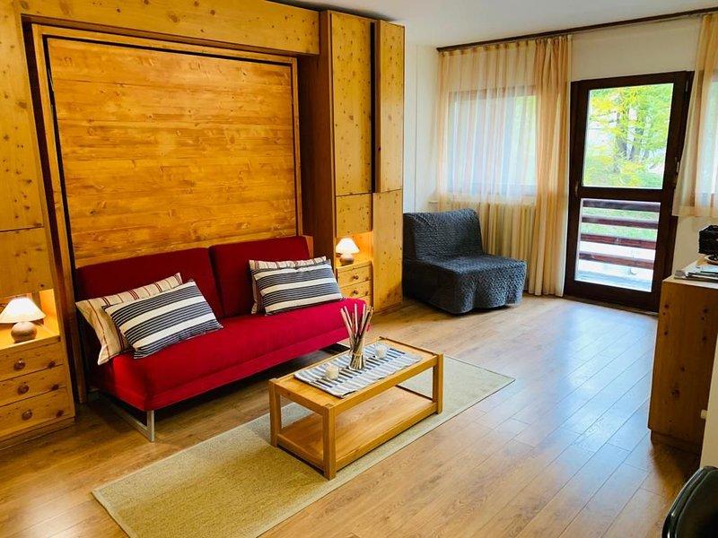 Luminoso e Accogliente Bilocale con balcone vista Cervino, Ferienwohnung in Valtournenche