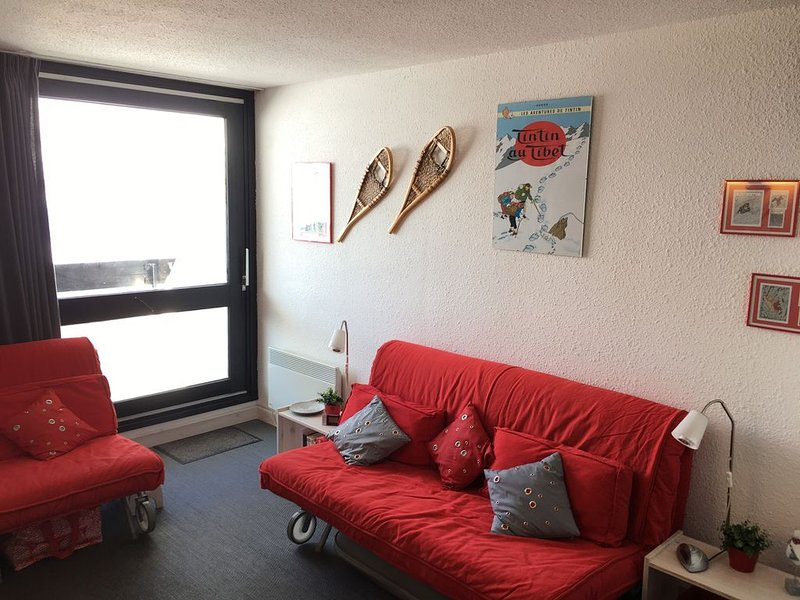 BRELIN - Balcon SUD, Vue sur Croisette-Skis aux pieds-Confort 'maison' 2-3p – semesterbostad i Saint-Martin-de-Belleville