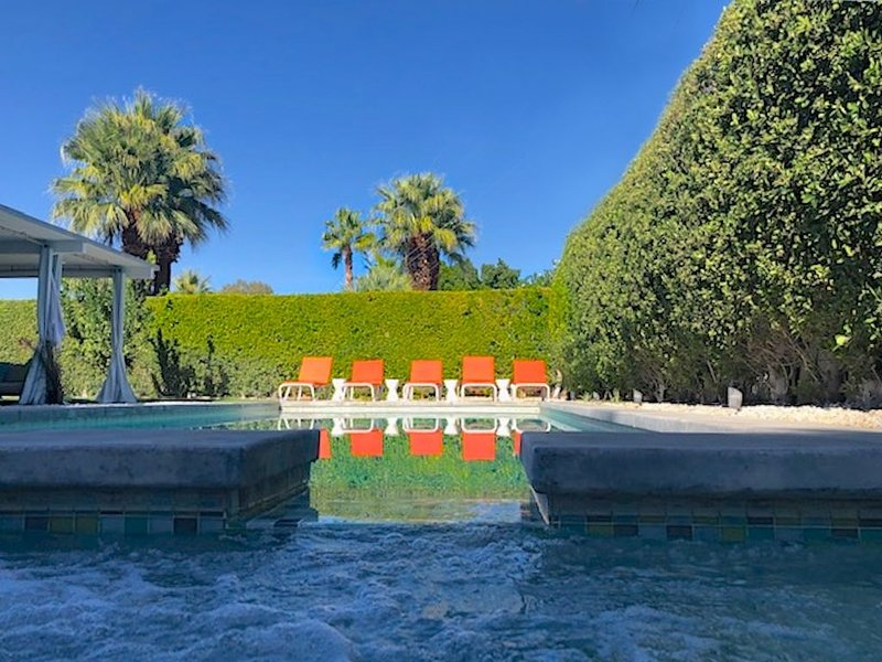 Super Cool Mid-Century withYard/ Cabana,Salt Water Pool, Outdoor Kitchen.Spa – semesterbostad i Palm Springs