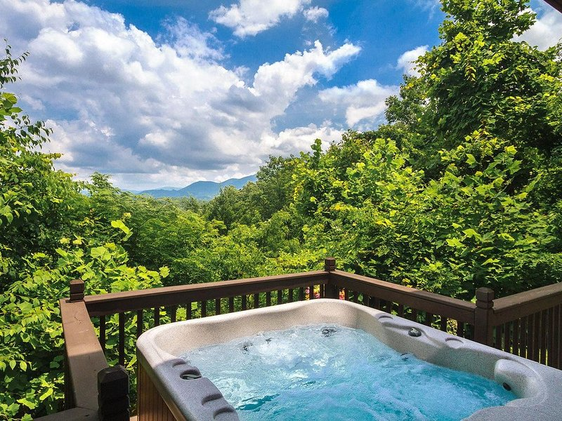 A Romantic Secluded Cabin With Mountain Views, Hot Tub & Wood Fireplace!, aluguéis de temporada em Cosby