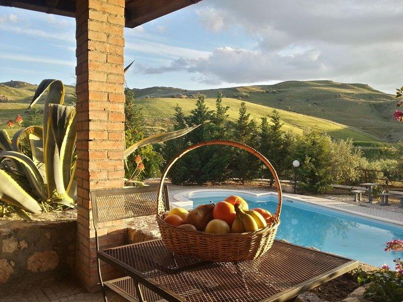 Landhaus mit Schwimmbad, holiday rental in Adrano