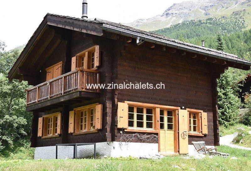 Chalet individuel à Zinal - 1 chambre à 1 lit double - 1 chambre à 2 lits - séjo, holiday rental in Ayer