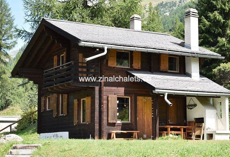 Chalet individuel à Zinal - 1 chambre à 1 lit double - 1 chambre à 2 lits superp, casa vacanza a Zinal