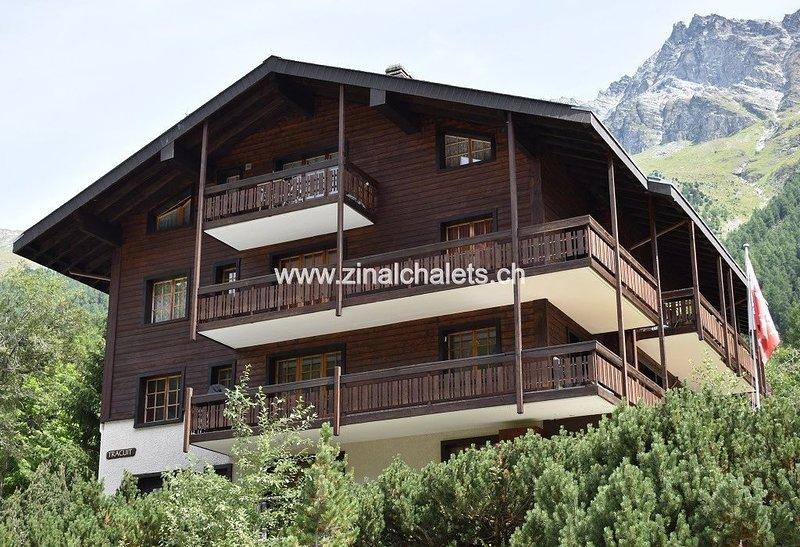 Appartement en résidence à Zinal - 1 chambre à 1 lit double - séjour - cuisine -, holiday rental in La Sage